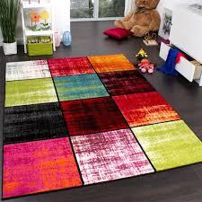 teppich 300x300 teppich kinderzimmer karo kinderteppich mehrfarbig meliert rot