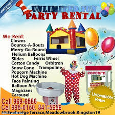 party supplies for rent unlimited party rentals and supplies jamaican classifieds