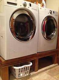 Front Load Washer With Pedestal Dad Built This Washing And Dryer Stand