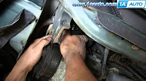 how to install replace engine serpentine belt tensioner 1998 03