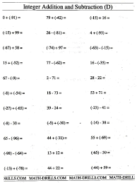 collection of solutions integer worksheets pdf on job summary