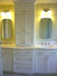 double sink vanity with middle tower double vanity with center tower full size of looking traditional