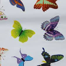 42pcs diy colourful butterflies home removable decor wall stickers