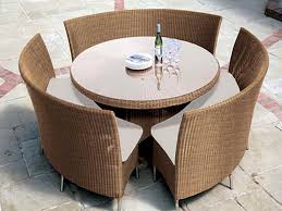 Rattan Kitchen Table by Patio Narrow Patio Table Design Style Dark Brown Rectangle