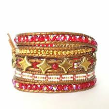 red wrap bracelet images Trendy red wrap bracelet 5 rounds with star beads e miyuki delicas jpg