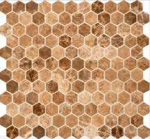 hexagon carrara from 8 95 square marble mosaic tiles