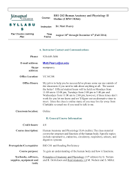Human Anatomy And Physiology Courses Online Bio 202 Online Syllabus Fall 14