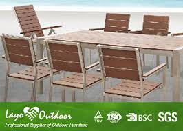synthetic wood restaurant patio furniture saves money and time