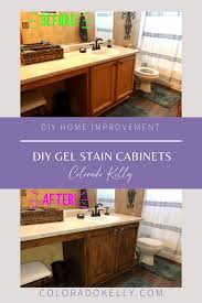 how to stain of cabinets diy gel stain cabinets colorado