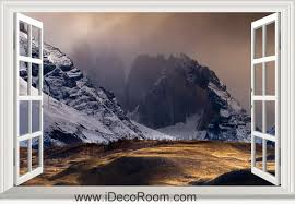 outdoor lighting wall ls 3d landscape light mountains window wall sticker art decal idcch ls