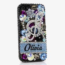 Name Style Design by Bling Cases Personalized Name Custom Made Crystals Music Note