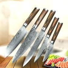 bloc couteau cuisine set couteau de cuisine set couteau cuisine 5 chef steel set
