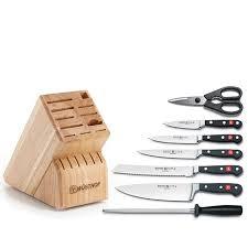 wüsthof classic 8 piece knife block set 7307485 hsn