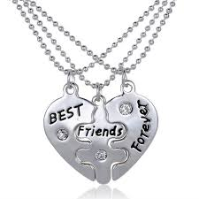 friendship heart 2016 new arrival 3 pcs best friends forever heart friendship