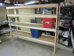 storage shelves for garages design railing stairs and kitchen image of diy storage shelves for garages