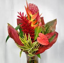 bouquet arrangements the poipu tropical bouquet radiates from warm flowers