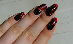 halloween nail art challenge blood fashiony nails beauty blog