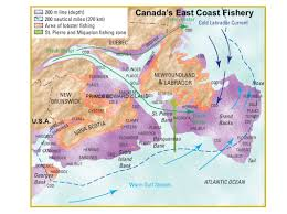 map canada east coast fishing geography of canada ppt