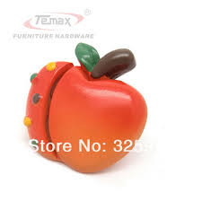 Bedroom Furniture Knobs And Pulls Cartoon Red Apple Type Cabinet Gate Dresser Kids Children
