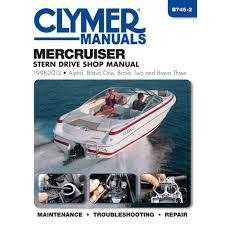 amazon com clymer mercruiser stern drive shop manual 1998 2004