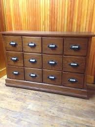 apothecary dresser antique oak country hardware store 12 drawer bin cabinet apothecary