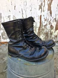 s lace up combat boots size 12 vintage corcoran paratrooper jump boots 12 ee cap by huntedfinds