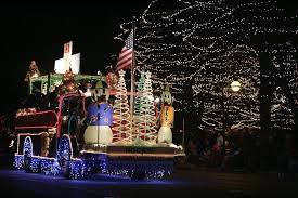 christmas light parade floats holiday homecoming and electric christmas parade light up st charles