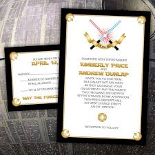 wars wedding invitations 10 galaxy inspired wars wedding invitations