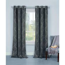 Duck River Window Curtains Duck River Blackout Phelan 84 In L Blackout Grommet Panel In