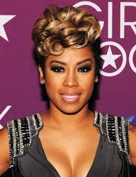 keyshia cole hairstyle gallery short hairstyles and cuts ms cole short updo with blonde curly top