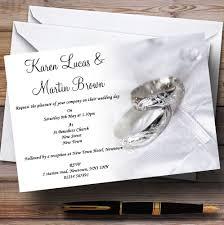 Silver Wedding Invitation Cards Classy White And Silver Rings Personalised Wedding Invitations