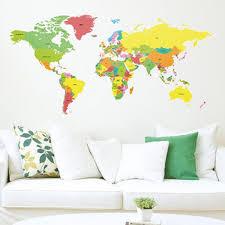 Large World Map Large World Map Wall Sticker Giant Map Wall Decor
