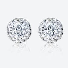 silver stud earrings sterling silver dome stud earrings