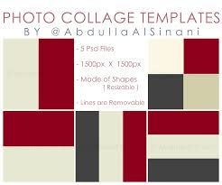 photo collage templates for web and instagram by alsinania on