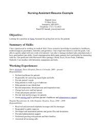 Examples Of Resumes For Customer Service by Certified Nursing Assistant Cover Letter Examplescover Letter
