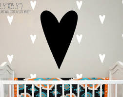 Heart Wall Stickers For Bedrooms Wall Decals Etsy