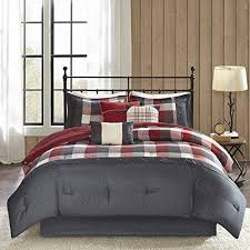 Plaid Bed Set Black Plaid King Comforter Set Cabin Lodge Theme