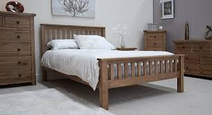 Tilson Solid Rustic Oak Bedroom Furniture  Double Bed EBay - Dark wood bedroom furniture ebay