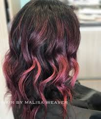weave hairstyles with purple tips 39 incredible dark brown hair with highlights trending for 2018