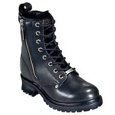 womens boots harley davidson harley davidson 82041 womens motorcycle logger outside zip boots