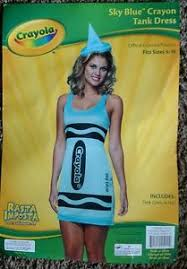 Crayon Halloween Costume Crayola Sky Blue Crayon Tank Dress Halloween Costume Size 4 10 Ebay