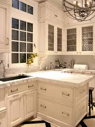 Antique White Cabinets With White Appliances by Granite Countertop Antique White Cabinets Pictures Backsplash