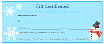 custom gift certificates custom gift certificate free gift certificate templates