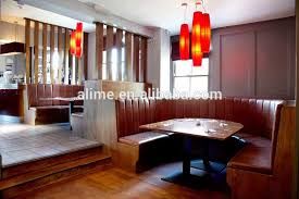 Banquette Seating Fixed Bench Fixed Alime Antique Wooden Restaurant Curved Booth Banquette Seating