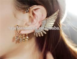 one ear earring customed one side ear hanging earrings no percing cuff earring