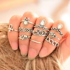 knuckle rings set images 10pcs set tibetan gypsy boho knuckle rings for women sunetra jpg