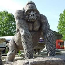 silverback gorilla garden ornaments