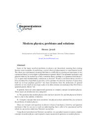 modern physics problems and solutions pdf download available
