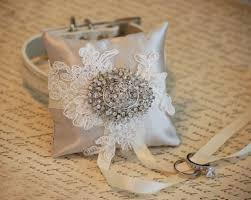 wedding accessories store ivory ring pillow ring pillow attach to white dog collar