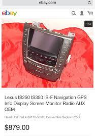 lexus is250 for sale on ebay navigation screen clublexus lexus forum discussion